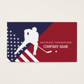 Hockey-Spieler, Vereinigte Staaten kennzeichnen, Visitenkarte