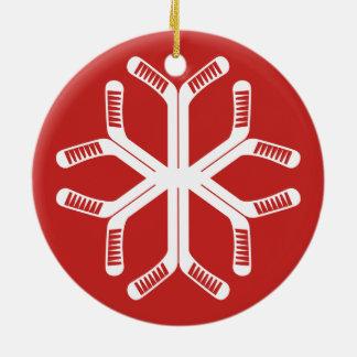 Hockey-Stock-Schneeflocke-Feiertags-Dekoration Keramik Ornament