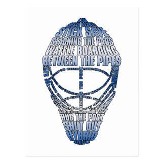 Hockey-Tormann-Maske Postkarte