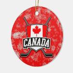 Hockey-Weihnachtsbaum-Verzierungs-Kanadier-Flagge Ornamente