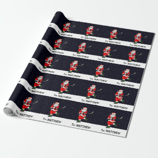 Hockey-WeihnachtsPackpapier Geschenkpapier