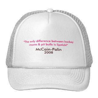 Hockeymammen, Pitbullen u. Lippenstift McCain-Pali Cap