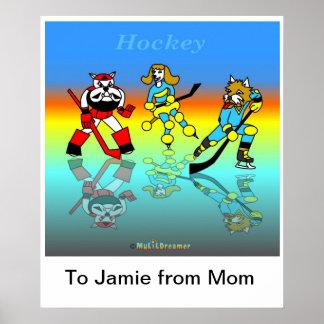 Hockeyplakat für Kinder Plakatdruck