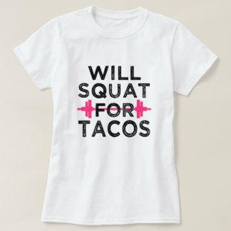 Hockt für das Shirt der lustigen Frauen des Tacos