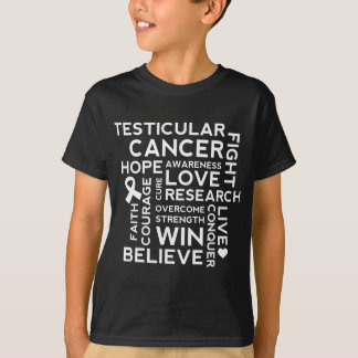 Hodenkrebs-Bewusstseins-Collage T-Shirt