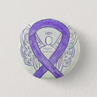 Hodgkins Lymphom-Kunst-Engels-violette Runder Button 2,5 Cm