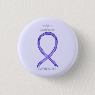 Hodgkins Lymphom-Kunst-violette Runder Button 3,2 Cm
