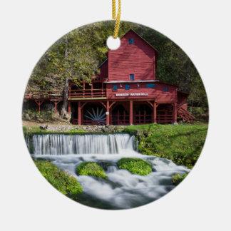 Hodgson-Wasser-Mühllandschaft Rundes Keramik Ornament