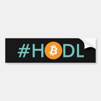 #HODL Bitcoin Autoaufkleber