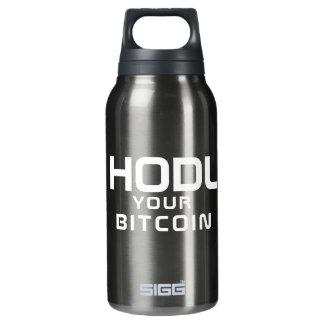 HODL Ihr bitcoin Isolierte Flasche
