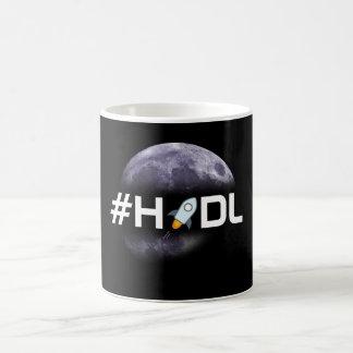 #HODL Sternlumen zur Mond-Schwarz-Tasse Kaffeetasse