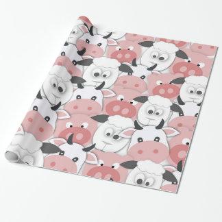 Hof Mischung-Oben! Einpackpapier