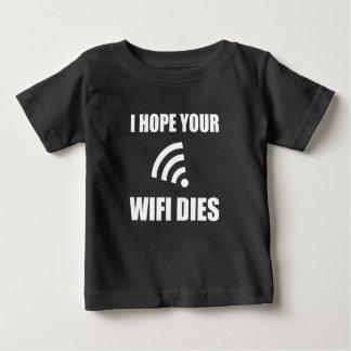 Hoffen Sie Ihre Wifi Würfel Baby T-shirt