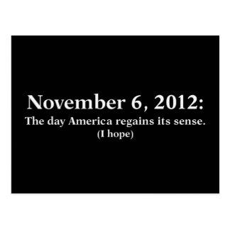 Hoffnung 2012 des Wahltag-I Amerika wacht auf Postkarte