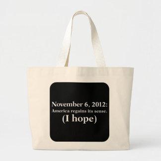 Hoffnung 2012 des Wahltag-I Amerika wacht auf Jumbo Stoffbeutel