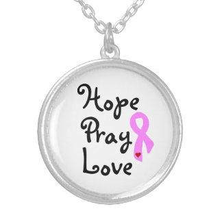 Hoffnung beten versilberte kette