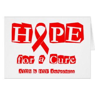 Hoffnung für eine Heilung - roter Band AIDS u. HIV Karte
