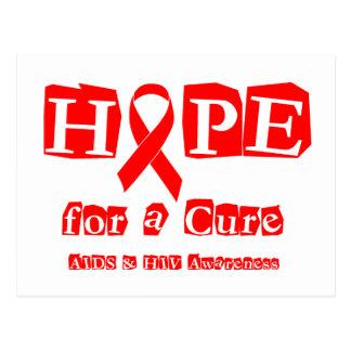 Hoffnung für eine Heilung - roter Band AIDS u. HIV Postkarte