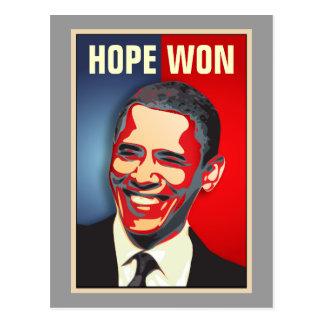 Hoffnung gewonnen - Barack Obama Postkarten