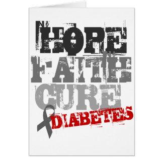 Hoffnung. Glaube. Heilung. Diabetes Karte