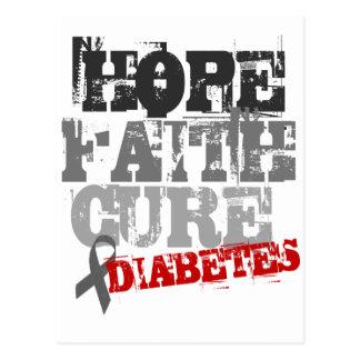 Hoffnung. Glaube. Heilung. Diabetes Postkarte