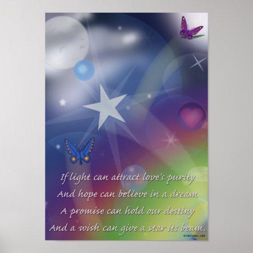 Hoffnung glaubt an den Traum Plakat