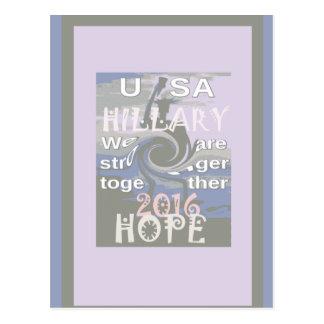 Hoffnung Hillary USA sind wir zusammen stärker Postkarte