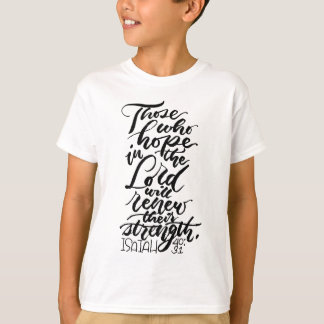 Hoffnung im Lord Brush Script T-Shirt
