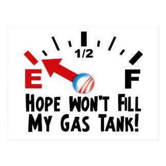 Hoffnung ist auf leerem - Antibarack obama Postkarte