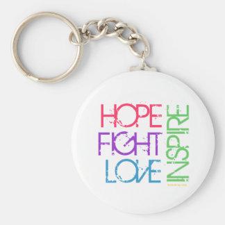Hoffnung, Kampf, Liebe, inspirieren Standard Runder Schlüsselanhänger