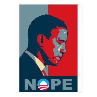Hoffnung? NOPE! Behalten Sie die Änderung, Barack! Postkarten