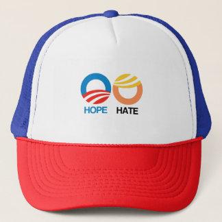 HOFFNUNG (Obama) gegen HASS (Trumpf) Truckerkappe