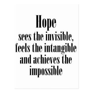 Hoffnung sieht das unsichtbare postkarte