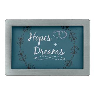Hoffnung+TraumTasse Rechteckige Gürtelschnallen