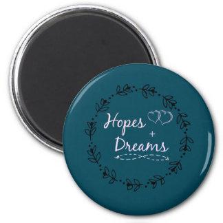 Hoffnung+TraumTasse Runder Magnet 5,7 Cm