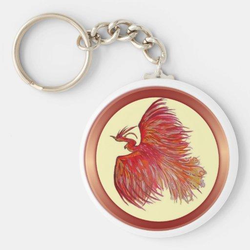 Hoffnung über den Schmerz Phoenix Schlüsselanhänger