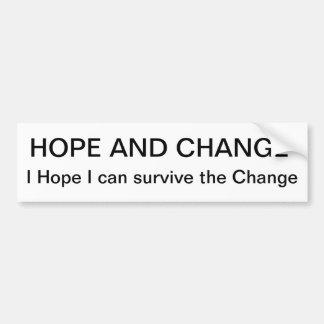 Hoffnung und Änderung Autoaufkleber