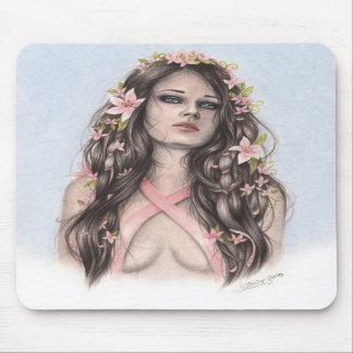 Hoffnung und Blumen-Brustkrebs-Bewusstsein Mousepad