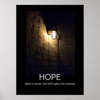 Hoffnung und Glaube demotivational Plakat