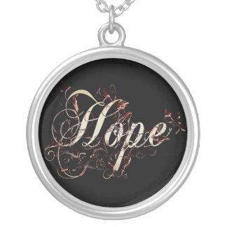 Hoffnung Versilberte Kette