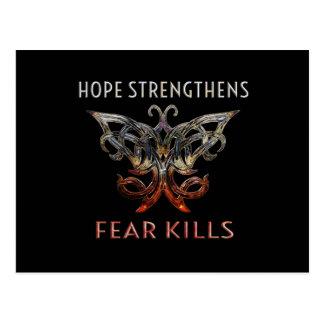 Hoffnung verstärkt | Furcht-Tötungs-Postkarte Postkarte