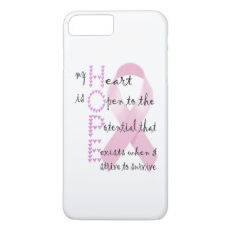 Hoffnung vom Herzen, gegen Krebs zu kämpfen iPhone 8 Plus/7 Plus Hülle