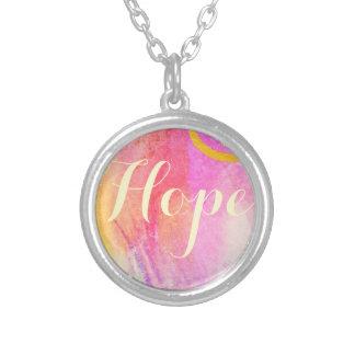 Hoffnungs-Aquarell Versilberte Kette