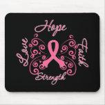 Hoffnungs-Glauben-Liebe-Stärken-Brustkrebs Mousepads