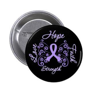 Hoffnungs-Glauben-Liebe-Stärken-General Cancer Runder Button 5,7 Cm
