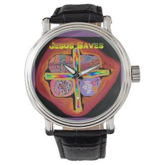 Hoffnungs-heilende Kirche Jesus rettet christliche Armbanduhr