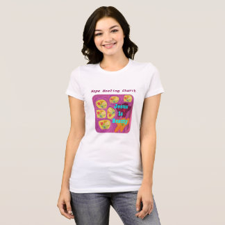 Hoffnungs-heilende Kirchen-christlicher T-Shirt