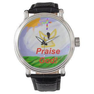 Hoffnungs-heilende Kirchen-Lob-Gott-Engels-Uhr Uhr