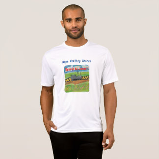 Hoffnungs-heilender Kirchen-Jesus-Zug-christlicher T-Shirt