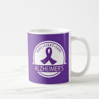 Hoffnungs-Kampf-Heilung Alzheimers Kaffeetasse